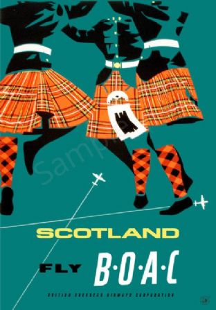 Scotland Fly BOAC - Scottish Dancers